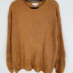 Knox Rose Mustard Yellow Long Sleeve Sweater